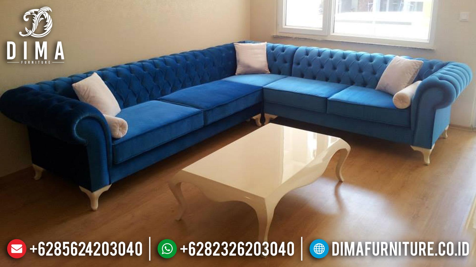 Kursi Ruang Tamu Set Sofa Tamu Sudut L Mewah Minimalis Jepara ST-0560 Gambar 2