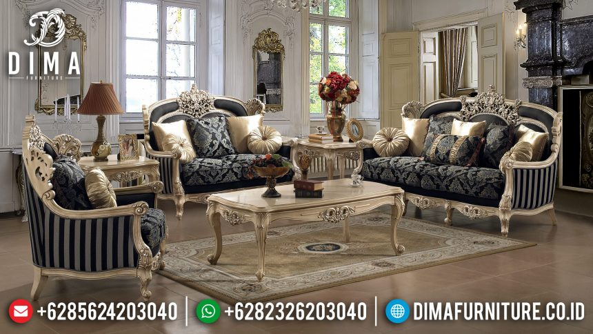 Sofa Tamu Jepara Mewah Victorian Ukiran Klasik Terbaru ST-0559