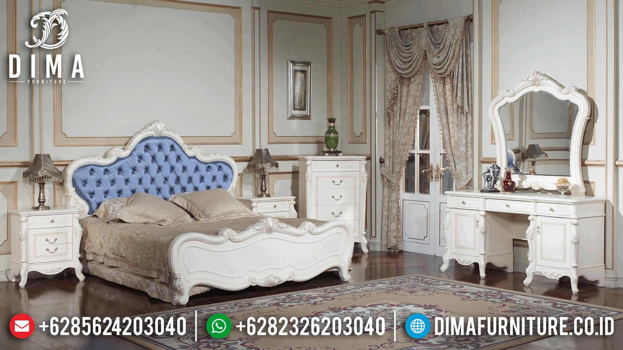Tempat Tidur Mewah Jepara Kamar Set Duco Putih Terbaru ST-0567