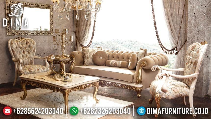 Jual 1 Set Sofa Tamu Mewah Jepara Model Klasik Terbaru ST-0579