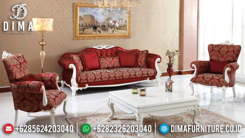 Mebel Jepara Terbaru Set Sofa Tamu Mewah Duco Classic Zirve Kirmizi ST-0581