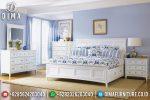 Jual Mebel Jepara Set Tempat Tidur Minimalis Terbaru Duco Putih Vanessa ST-0592