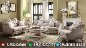 Sofa Tamu Mewah Jepara Model Terbaru Seri Chelmsford Duco Putih ST-0590
