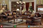 Beli Mebel Sofa Tamu Jepara Mewah Jati Ukiran Terbaru Dresden ST-0613