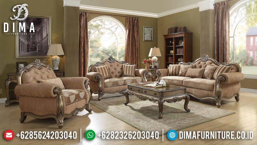 Sofa Tamu Mewah Jepara Terbaru Seri Ragenardus Duco Emas Klasik ST-0616