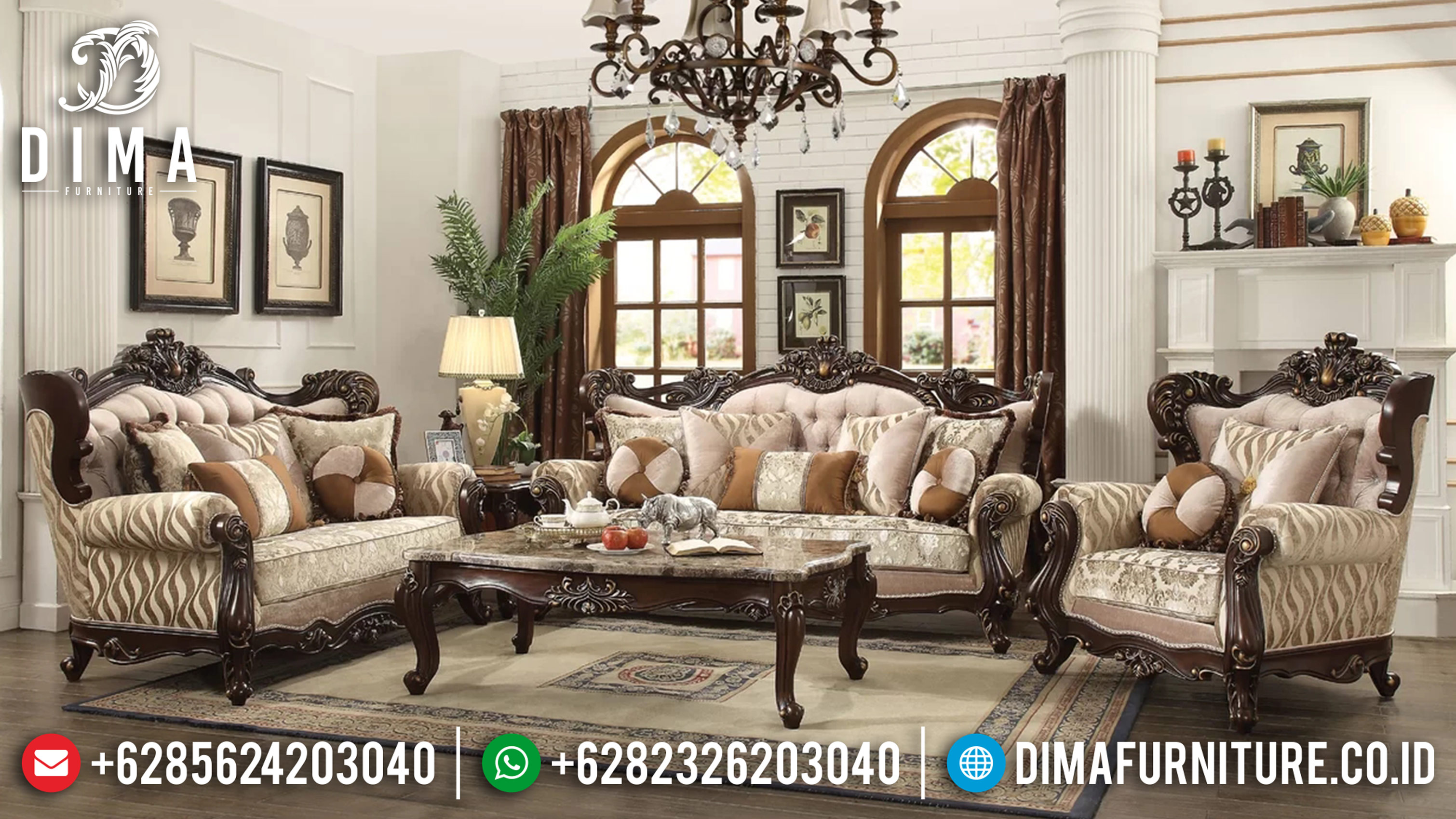 Kursi Tamu Klasik, Sofa Tamu Jepara Terbaru, Sofa Tamu Mewah ST-0620