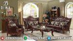 Sofa Tamu Mewah Jepara Terbaru Ukiran Classic Eustoma Natural ST-0622