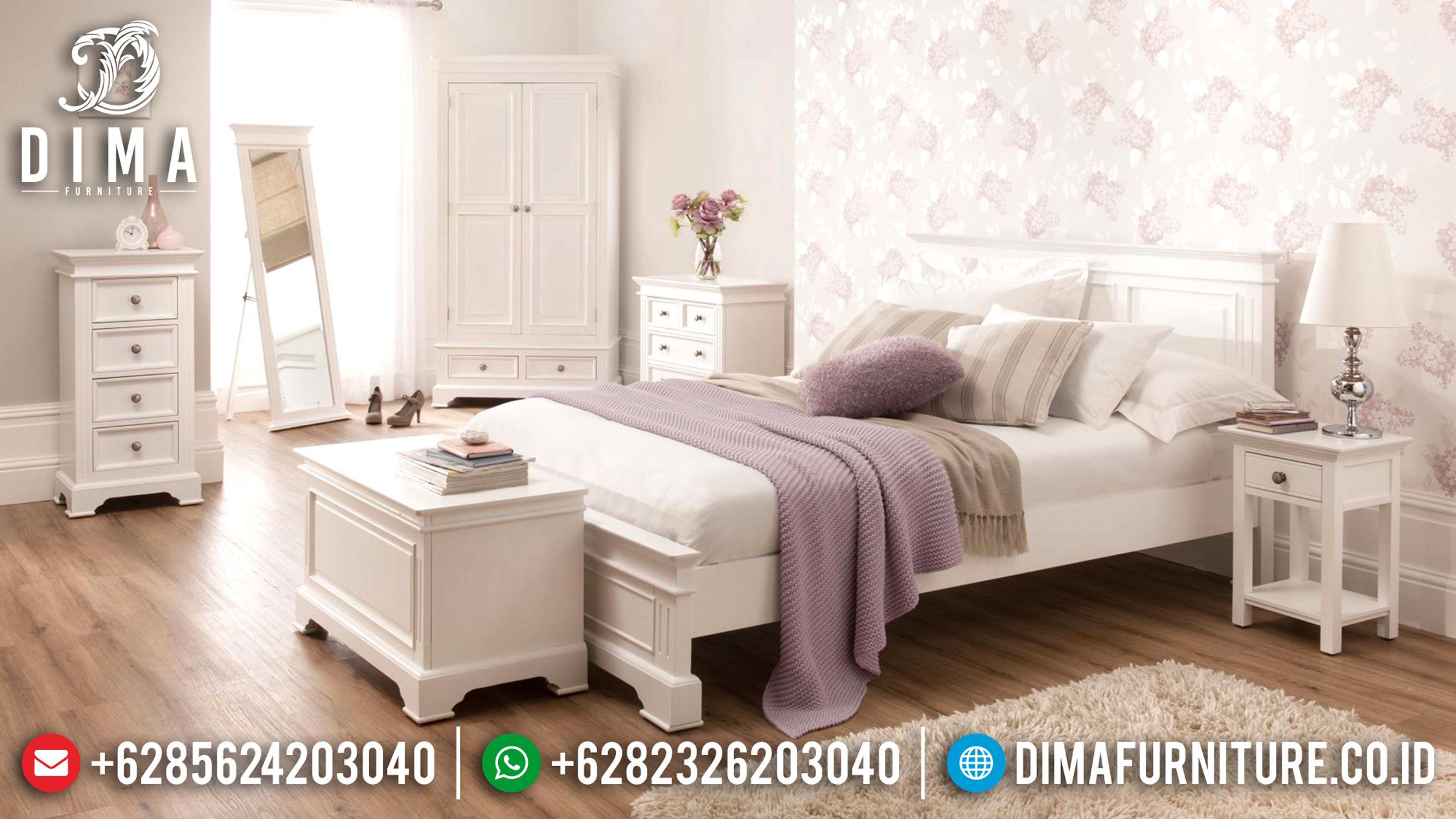 Furniture Indonesia Tempat Tidur Jepara Minimalis Duco Mewah Sophia ST-0634 Gambar 1