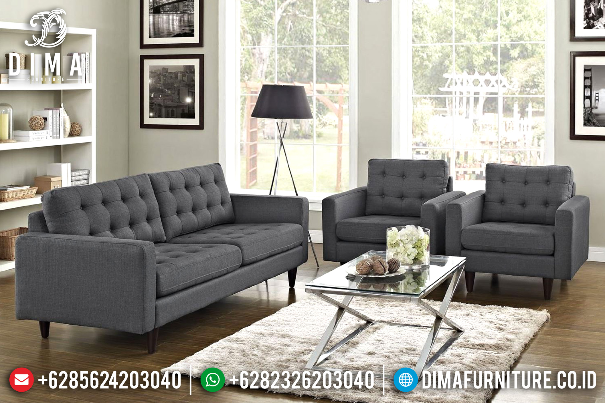Indonesian Furniture Sale Kursi Sofa Tamu Minimalis Modern Mewah Lexmod ST-0630