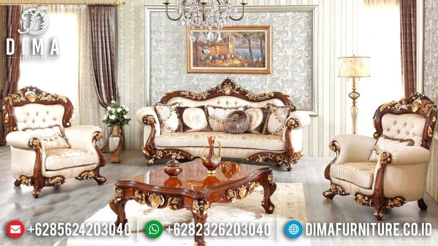Jual Kursi Sofa Tamu Jepara Mewah Klasik Jati Harput Klasik Koltuk ST-0632