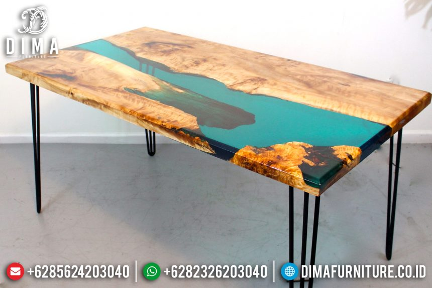 Jual Meja Resin Minimalis, Industrial Furniture Indonesia, Mebel Jepara Resin ST-0642