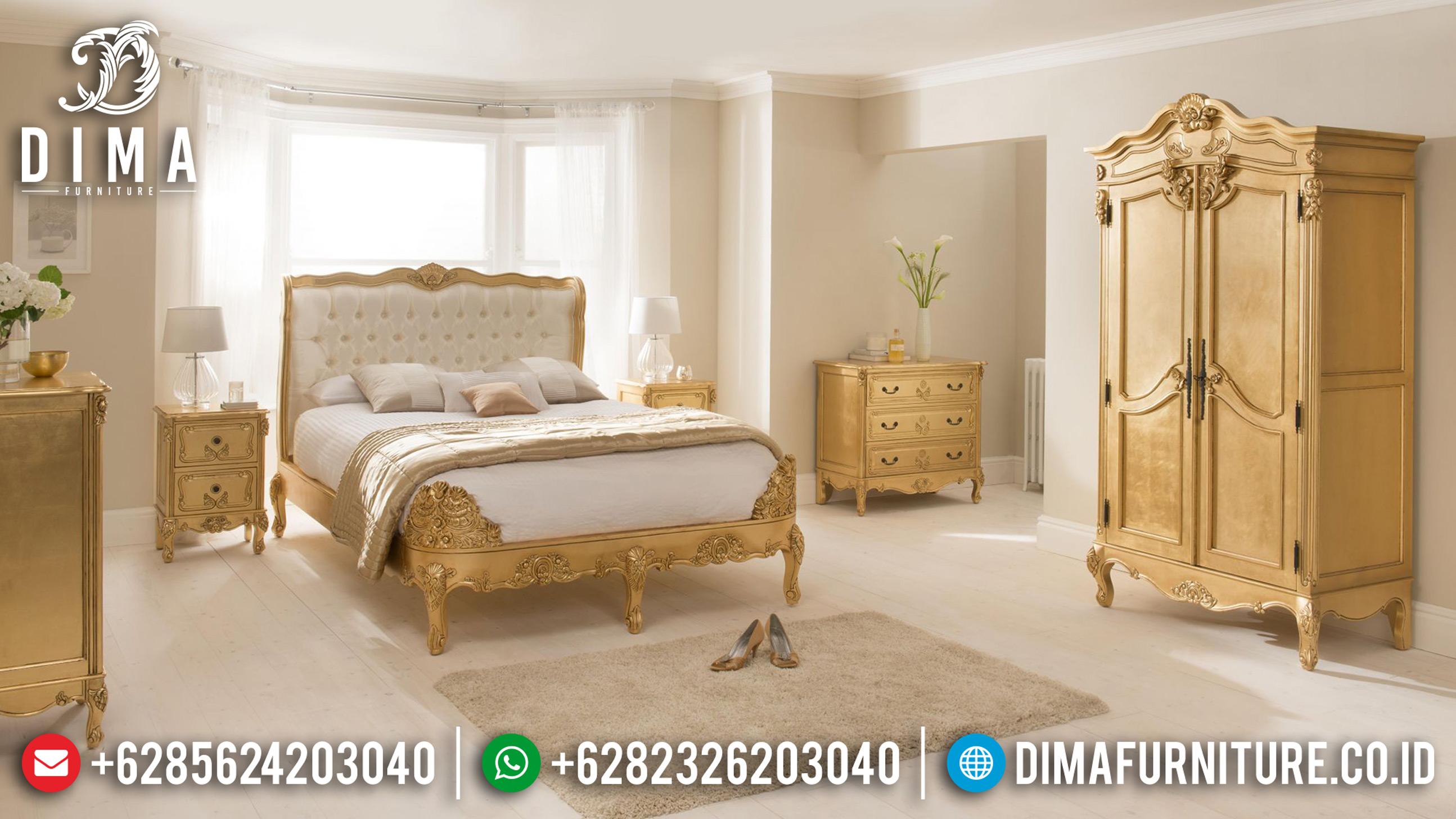 Rococo Furniture Indonesia Set Tempat Tidur Jepara Mewah Klasik ST-0635
