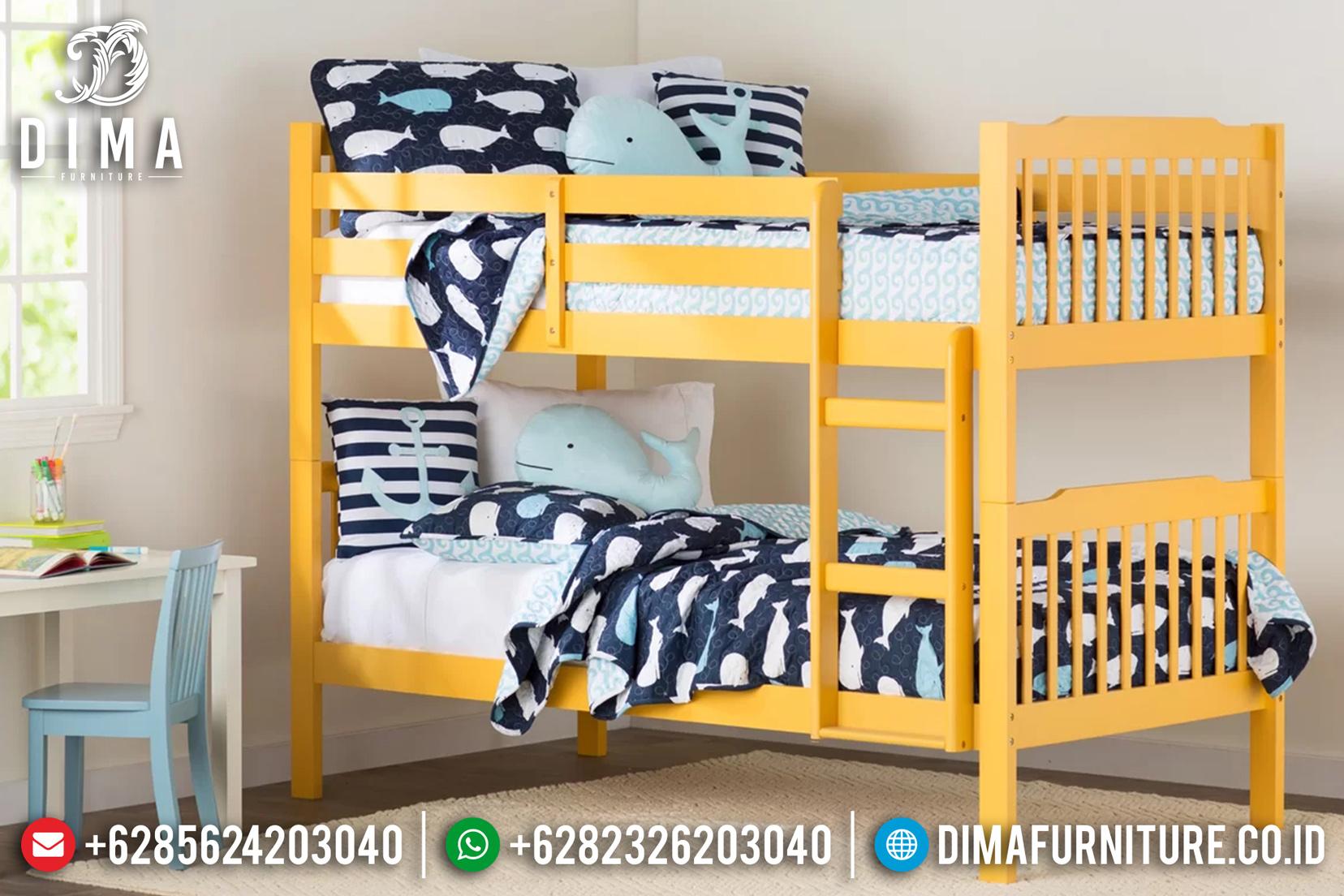Full Color Tempat Tidur Anak Tingkat Minimalis Jepara Cat Duco ST-0663