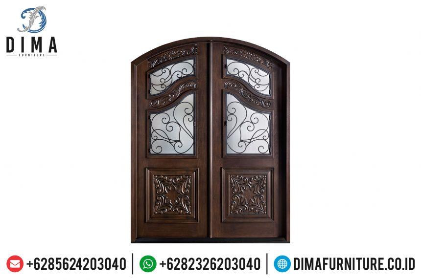 Jual Pintu Rumah Utama, Pintu Rumah Mewah Jati, Kusen Pintu Jati ST-0653