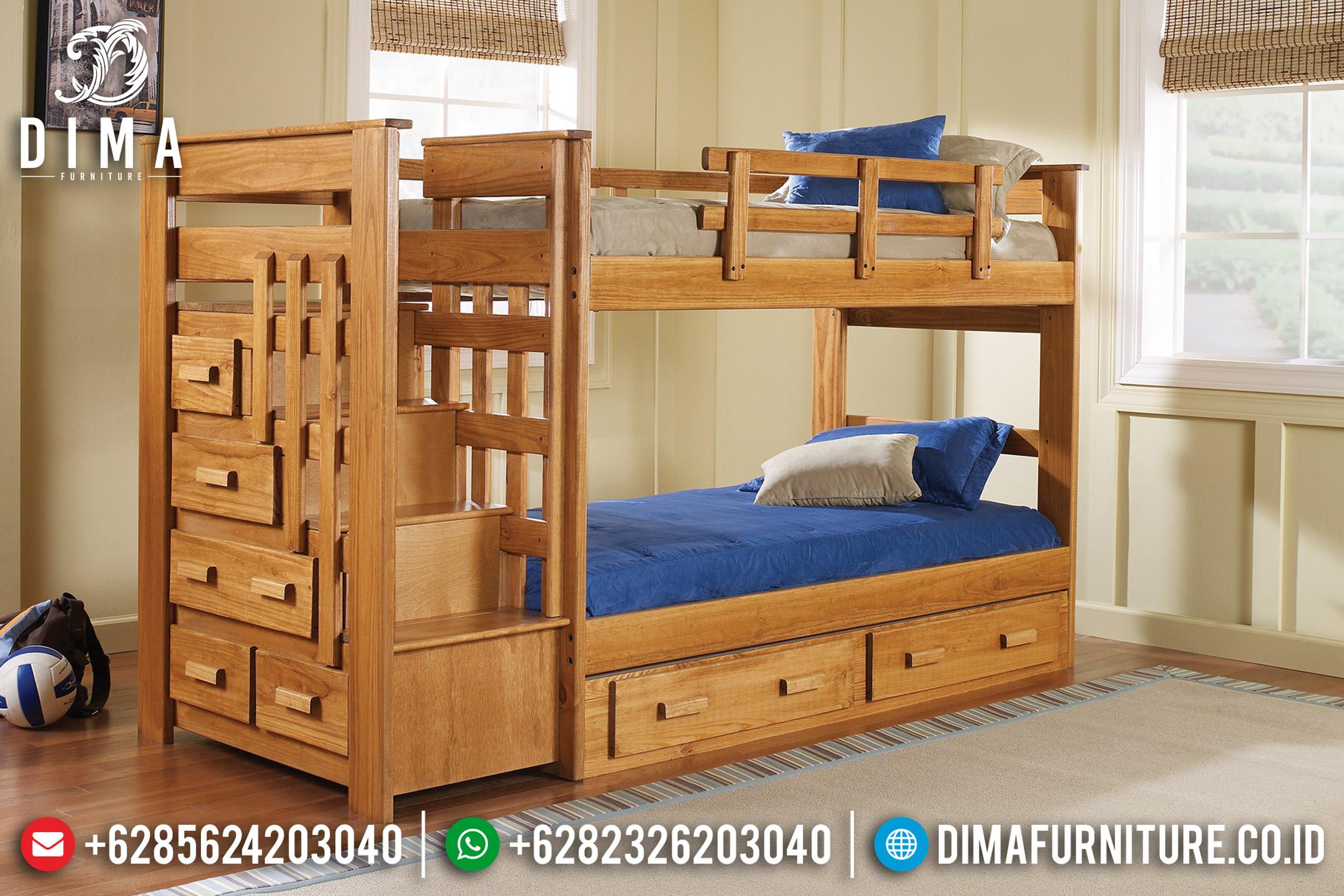 Jual Set Tempat Tidur Tingkat Anak Minimalis Jati Jepara 2019 ST-0662