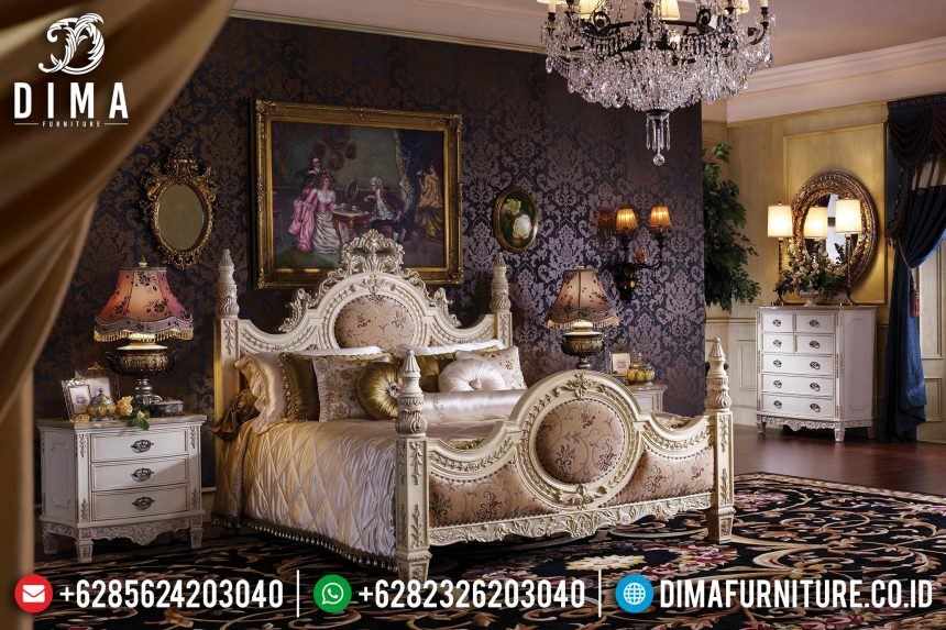 Jual! Tempat Tidur Mewah Jepara Ukiran Klasik Victorian Style ST-0656