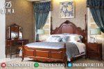 Mebel Jati Set Tempat Tidur Mewah Minimalis Jepara Seri Cinta Pengantin ST-0658