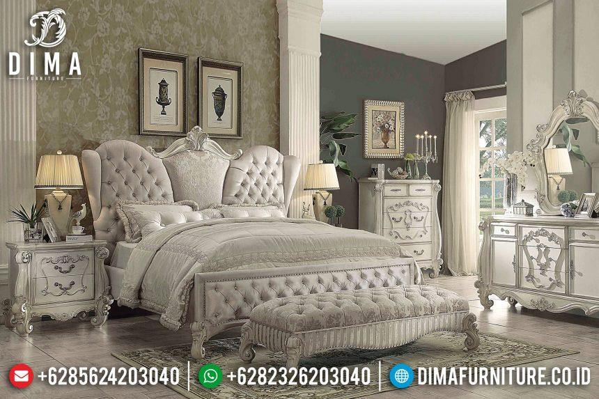 Model Tempat Tidur Jepara Mewah Alonso Ukiran Klasik Duco Putih ST-0657