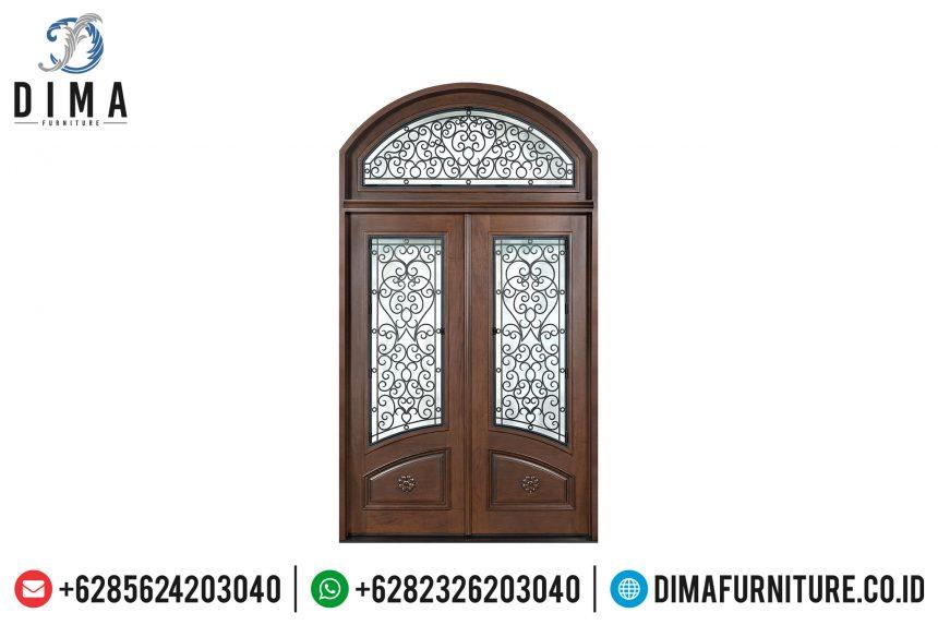 Pintu Utama Rumah Mewah, Kusen Pintu Jati Klasik, Pintu Rumah Jati Jepara ST-0654