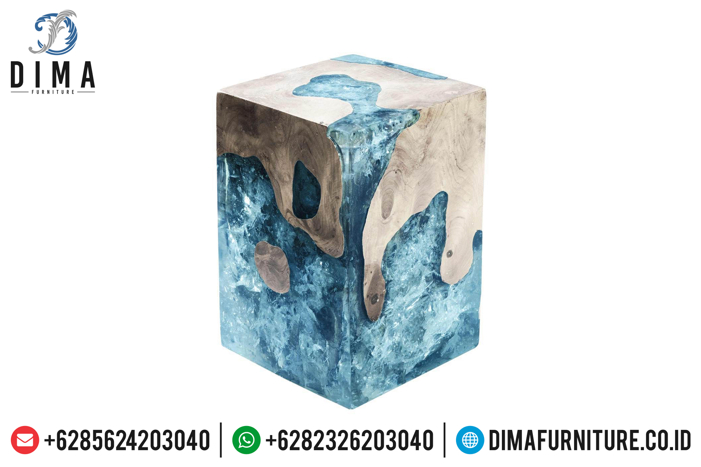 Resin Furniture Indonesia, Stool Resin Terbaru, Meja Resin Minimalis ST-0644