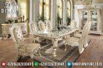Set Meja Makan Mewah Ukiran Jepara Bellagio Terbaru ST-0649