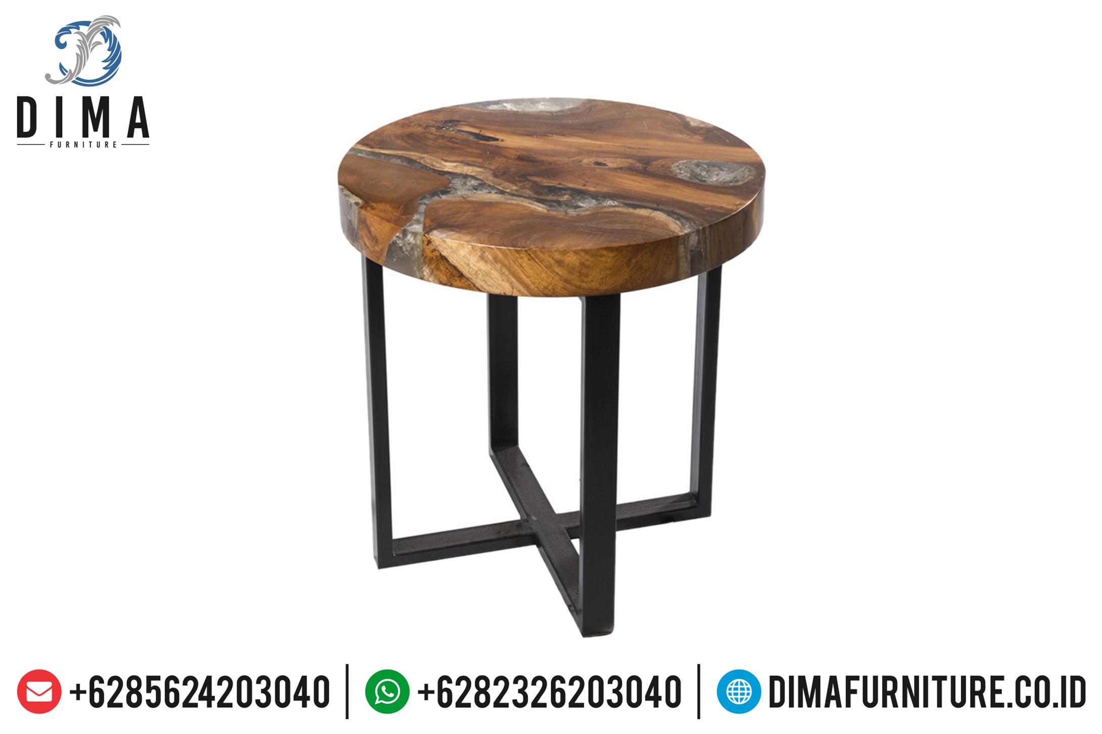Stool Resin Design, Meja Jati Dengan Resin, Resin Furniture Indonesia ST-0646