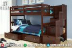 Tempat Tidur Anak Minimalis Tingkat Jati Jepara Terbaru ST-0660