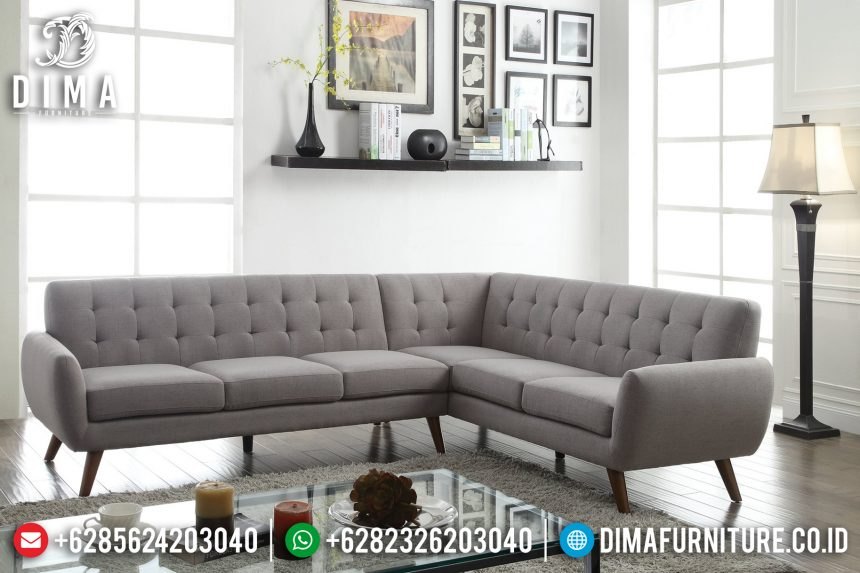 Furniture Indonesia Set Sofa Tamu Minimalis Jepara Sudut L Seri Essick ST-0665