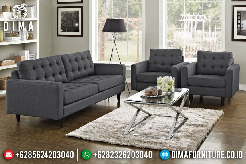 Lexmod Modern Set Sofa Tamu Minimalis Jepara Fabric Custom Color ST-0667