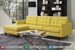 Model Warren Set Sofa Tamu Minimalis Jepara Mewah Cover Kuning ST-0666