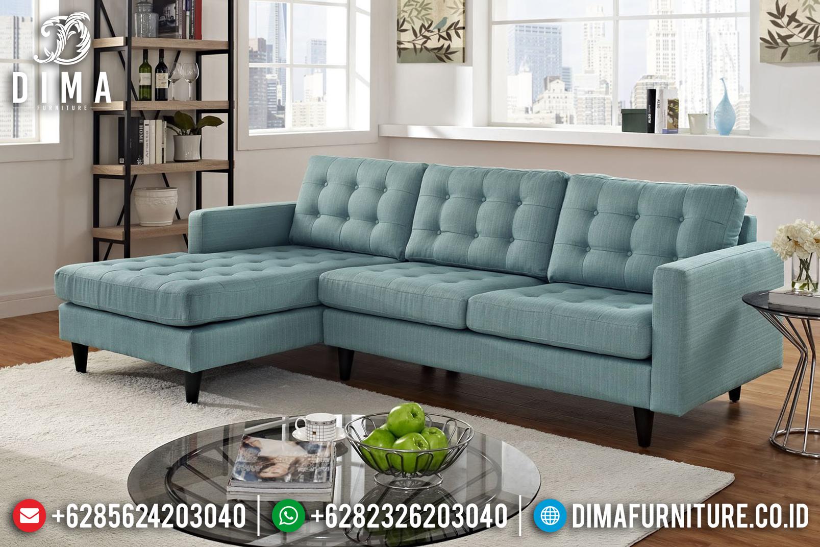 Model Warren Set Sofa Tamu Minimalis Jepara Mewah Cover Kuning ST-0666 Gambar 1