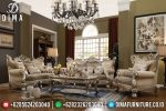 Set Sofa Tamu Jepara Mewah Jarred Champagne Ukiran Klasik Duco Siver ST-0675