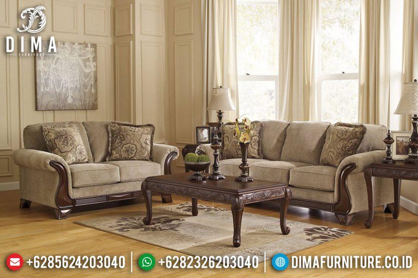 Set Sofa Tamu Jepara Mewah Jati Ukiran Minimalis Natural ST-0672