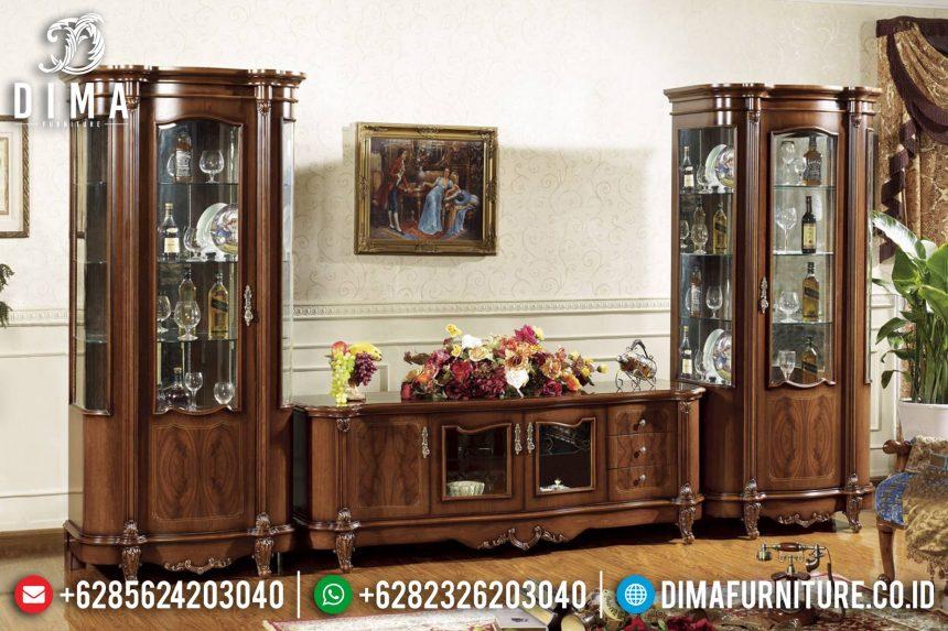 Jual Set Bufet TV Jepara Mewah Minimalis Jati Terbaru Natural ST-0676