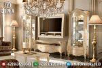 Klasik Furniture Set Bufet TV Mewah Jepara Portofino Duco Ivory ST-0678