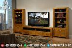 Lemari Hias Set Bufet TV Jepara Murah Jati Minimalis Terbaru ST-0677