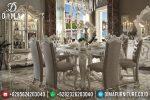 Set Meja Makan Eropa Mewah Ukiran Jepara Klasik Terbaru ST-0681