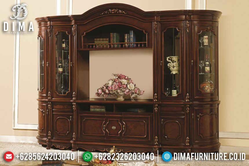 Bufet Tv Jati Mewah Klasik Model Terbaru SK-0720