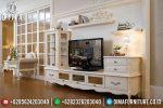 Bufet Tv Modern Mewah Kayu Mahoni Terbaru ST-0711