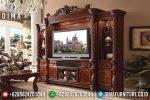 Bufet Tv Ukir Jati Mewah Mebel Jepara Klasik Terbaru ST-0721