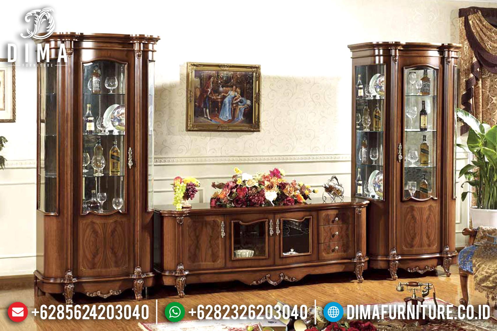 Set Bufet Tv Jati Mewah Klasik Modern Terbaru ST-0751