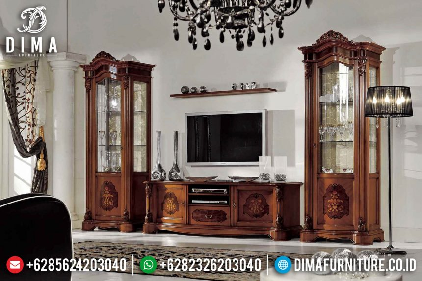 Set Bufet Tv Mewah Mebel Jepara Ukir Terbaru ST-0722