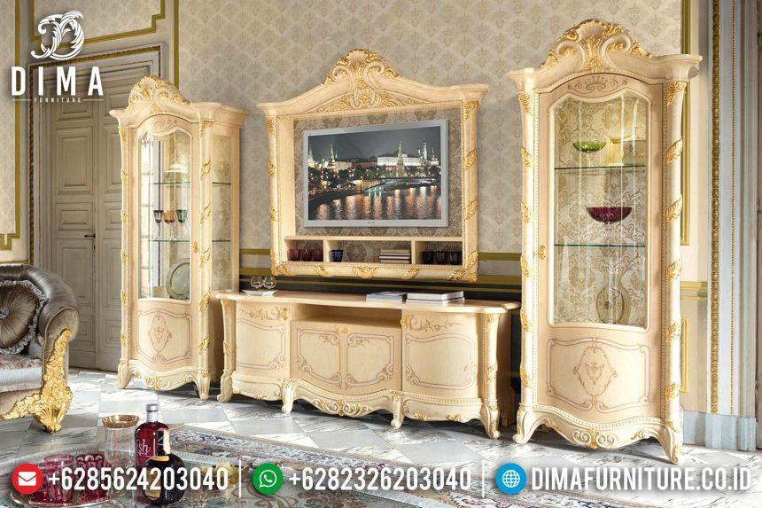 Set Bufet Tv Mewah Ukir Mebel Jepara Terbaru ST-0688