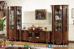 Set Bufet Tv Natural Jati Mewah Modern Terbaru ST-0702