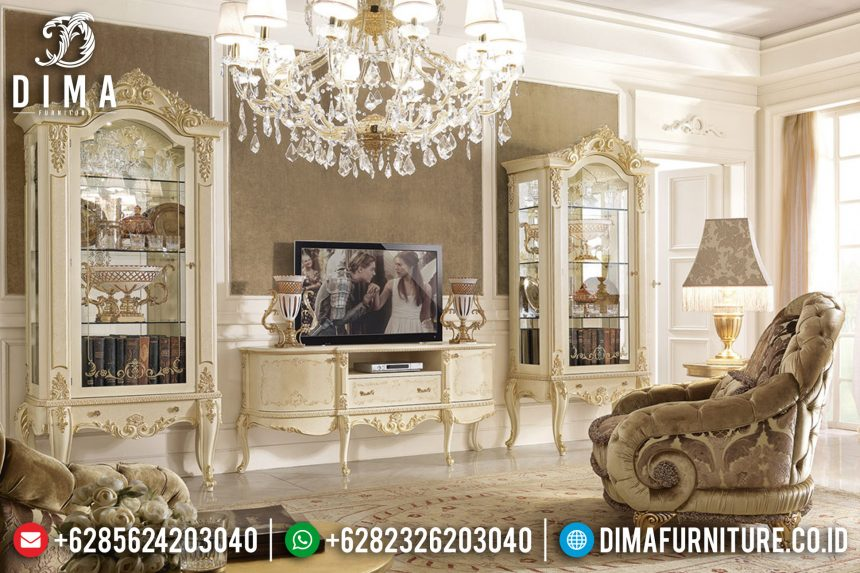 Set Bufet Tv Ukir Klasik Mebel Jepara Mewah Terbaru ST-0710