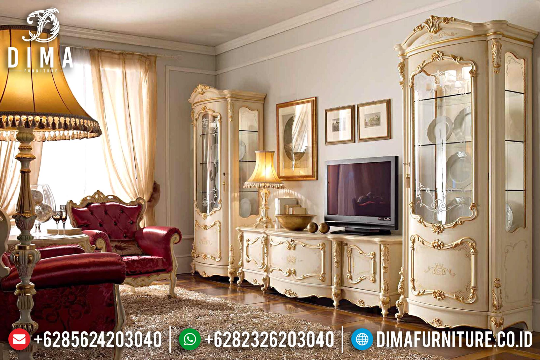 Set Bufet Tv Ukir Mewah Model Eropa Klasik Terbaru ST-0719