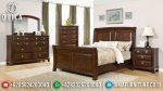 Set Kamar Tidur Minimalis Jati Mewah Terbaru ST-0746