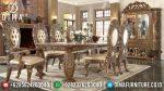 Set Kursi Makan Ukir Mewah Jati Klasik Terbaru ST-0742