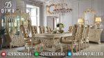 Set Meja Kursi Makan Klasik Ukir Jepara Terbaru Minerva ST-0728