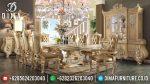 Set Meja Makan Eropa Mewah Ukir Jepara Terbaru ST-0723